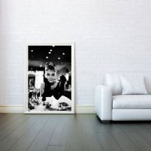 Audrey Hepburn breakfast at tiffany's Icon - Decorative Arts, Prints & Posters,Wall Art Print, Poster Any Size - Black and White Poster